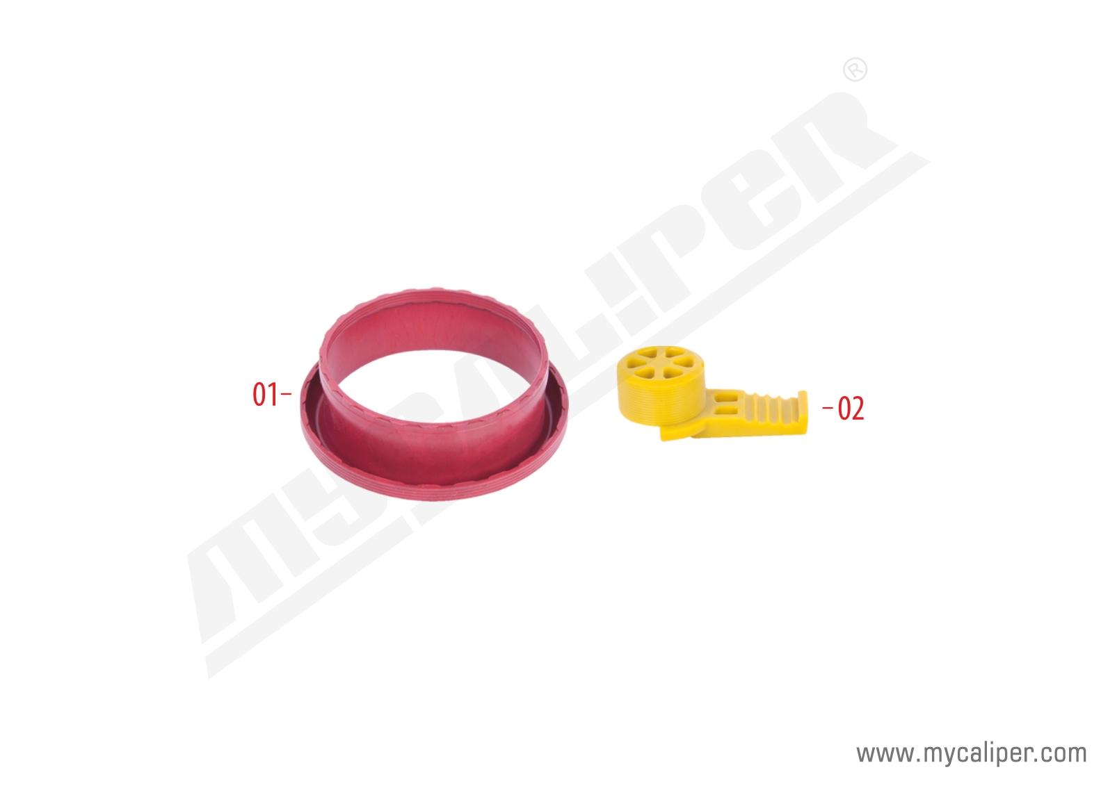 Caliper Adjuster Bolt Gaiter & Plastic Cap Kit
