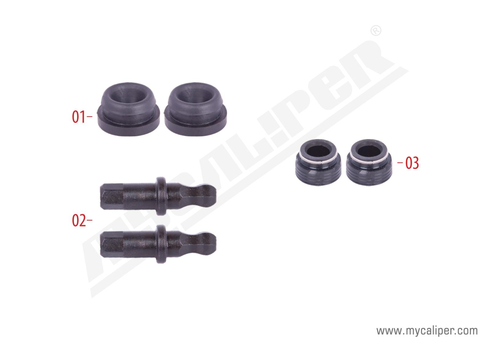 Caliper Adjuster Bolts & Seals Repair Kit