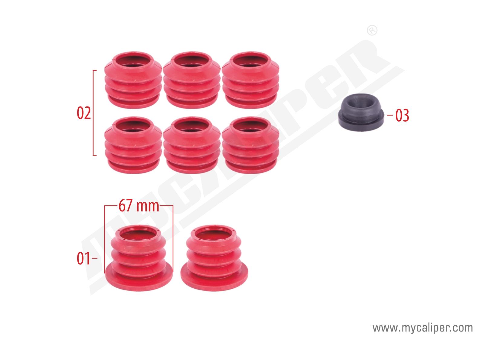 Caliper Boots Repair Kit