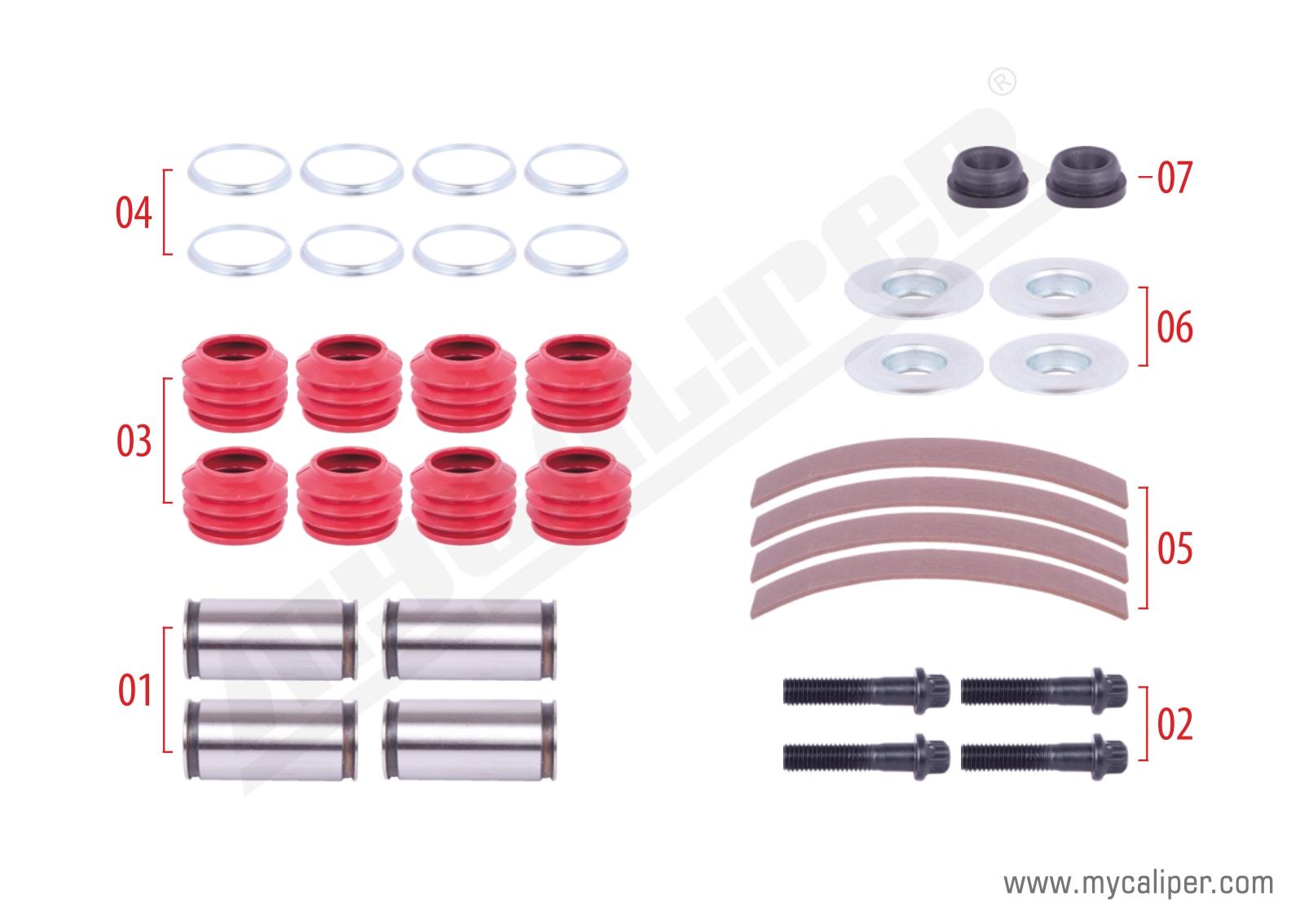 Caliper Guide & Seals Repair Kit