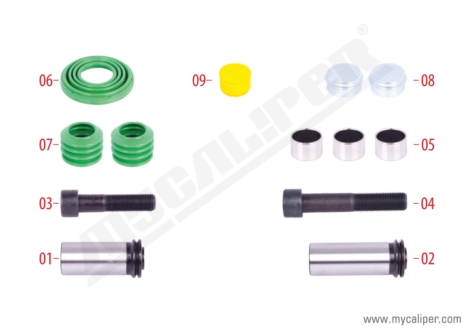 Caliper Guides & Seals Repair Kit (12.153 MAN)