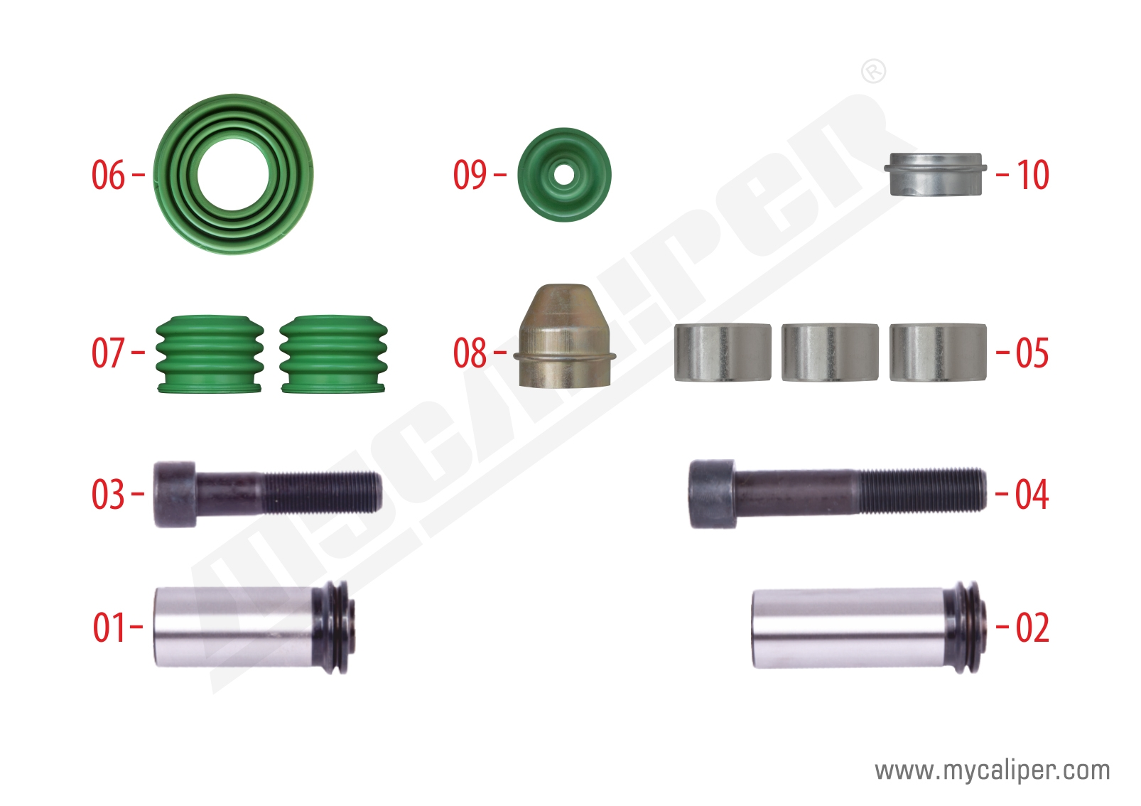 Caliper Guides & Seals Repair Kit (12.110 MAN)