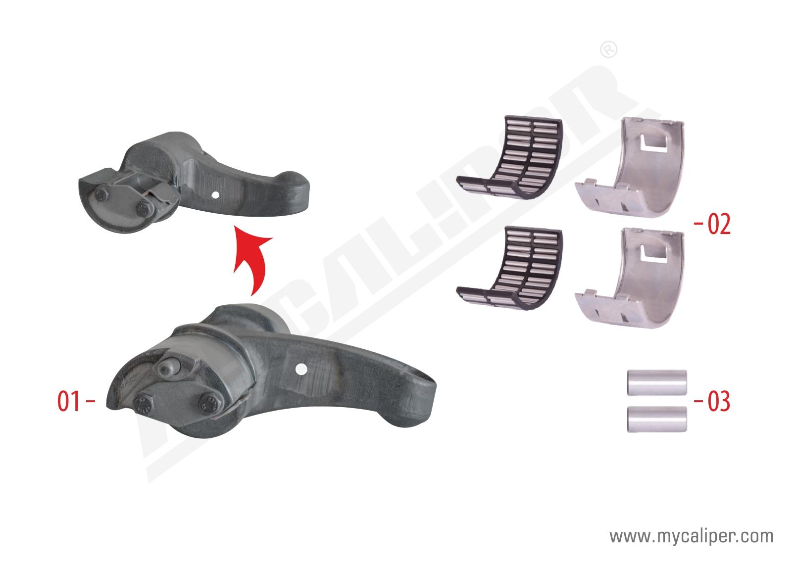 Caliper Lever Repair Kit (Right)