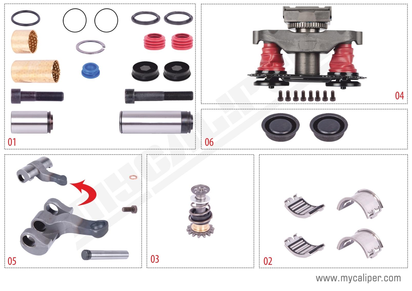 Caliper Repair Set  (With Pin)