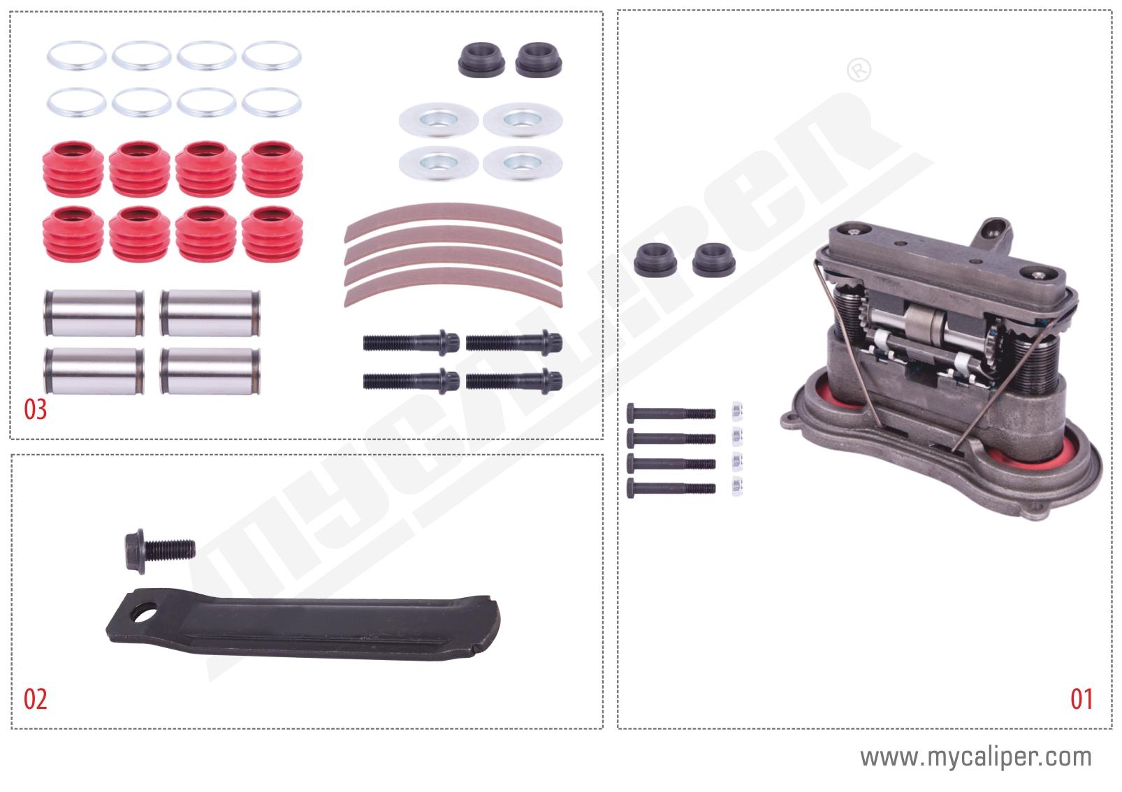 MARK II-III (2-3) TYPE Piston Version Repair Set