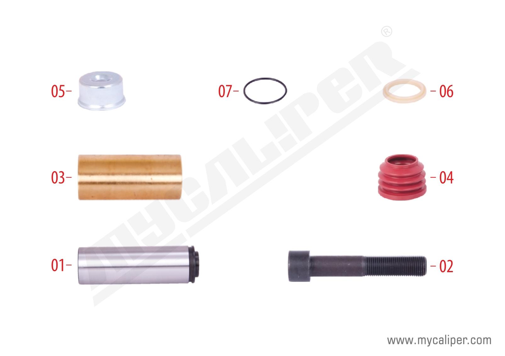 Caliper Guides & Seals Repair Kit