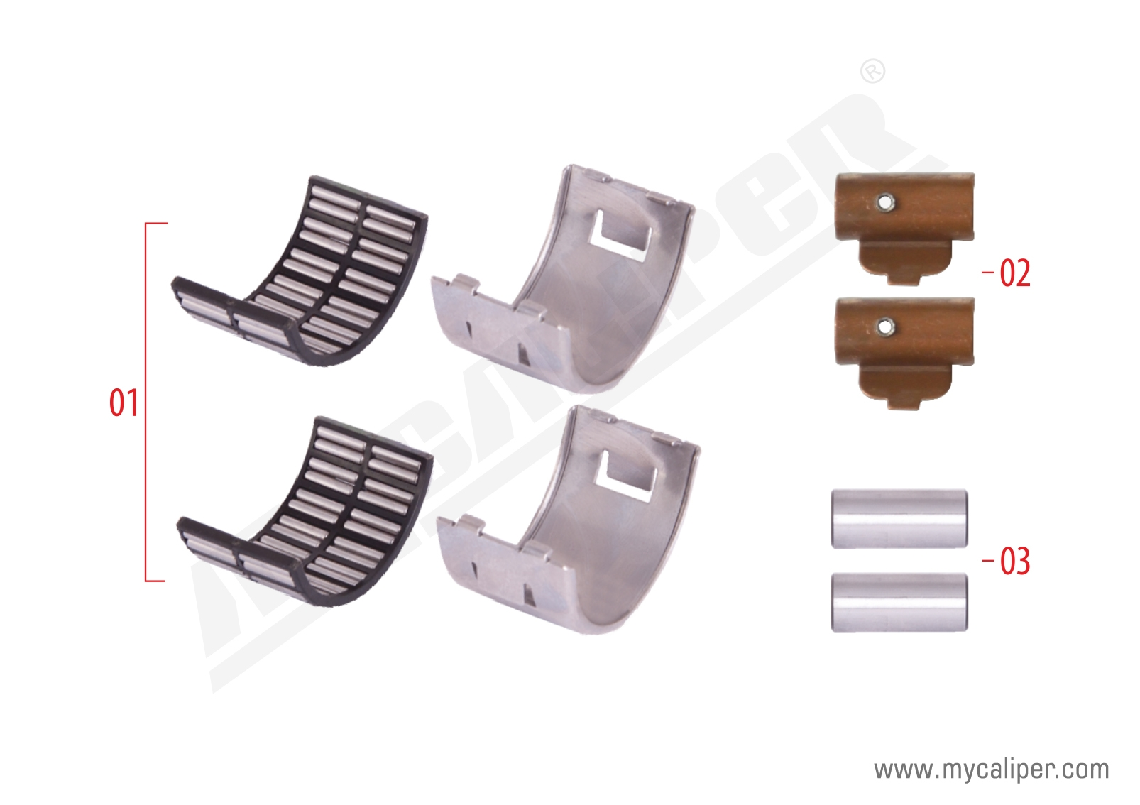 Caliper Bearing Repair Kit (Axial)