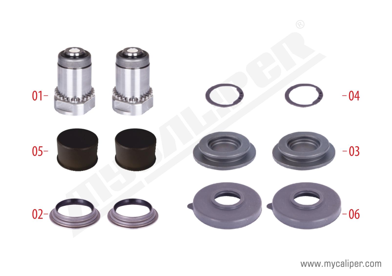 Caliper Adjuster Tappet Repair Kit (Right)