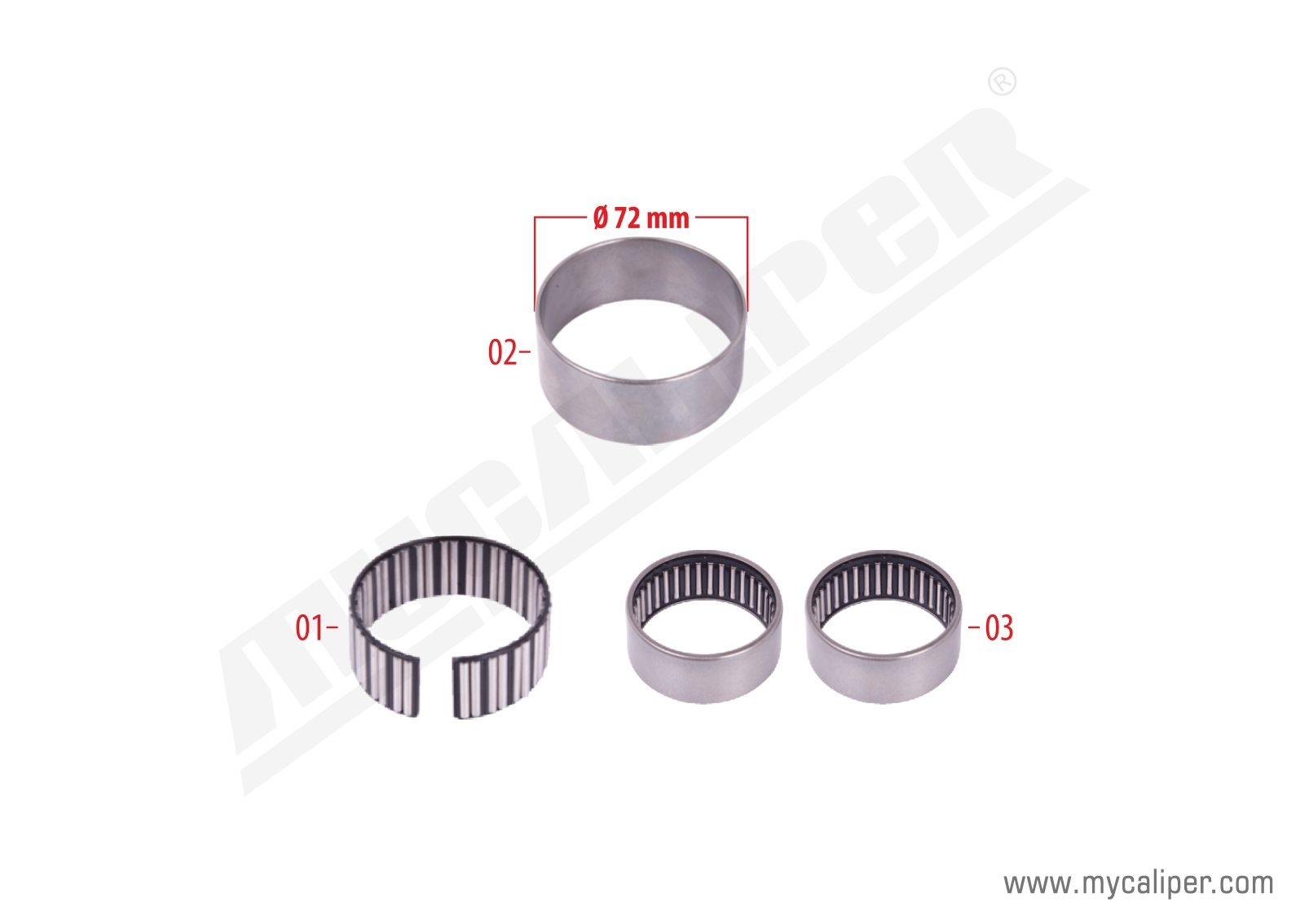 Caliper Bearing Repair Kit