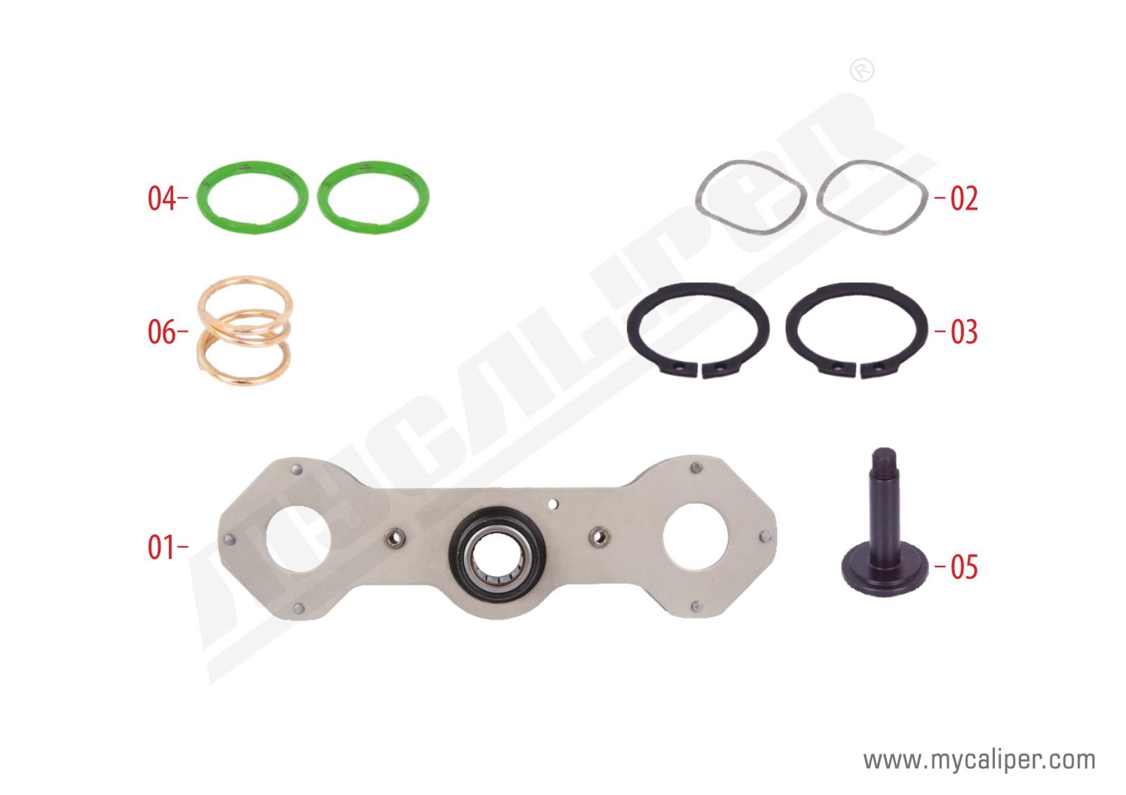 Caliper Adjusting Mechanism Repair Kit (Right)