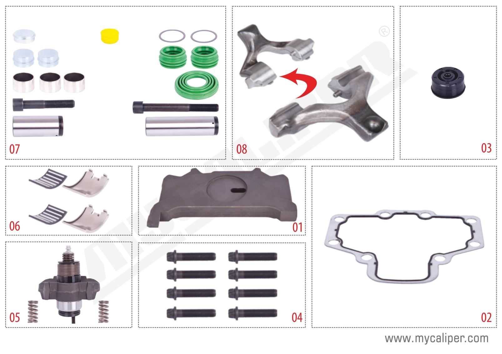 Saf Axle Set (Left) - PAN 19-1 / 22-1
