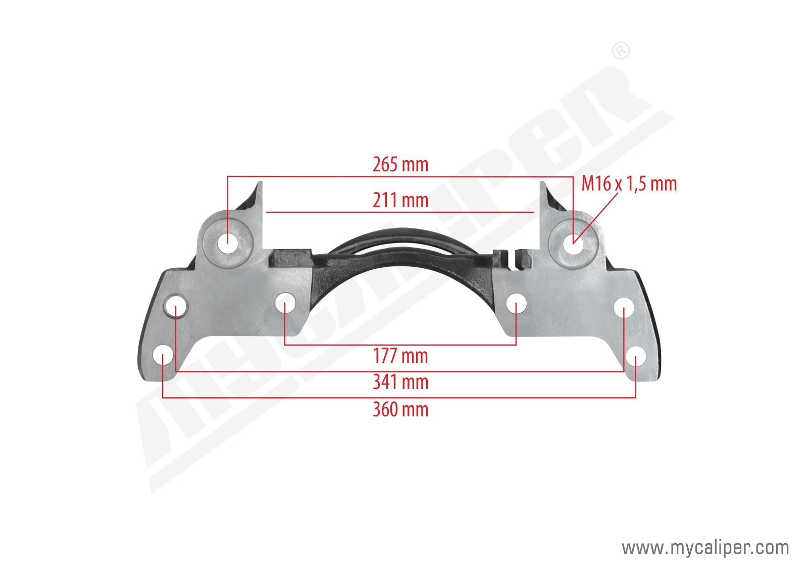 Wabco 19,5 Caliper Carrier Right
